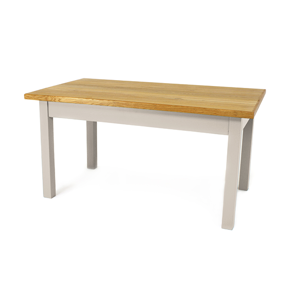 Ellastone table - Staffordshire Clay, oak top