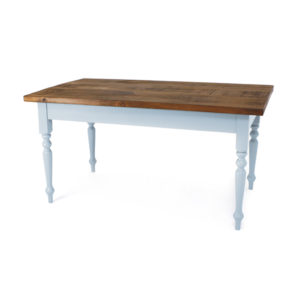 Narrow Farmhouse Table - Brindley Blue, pine top