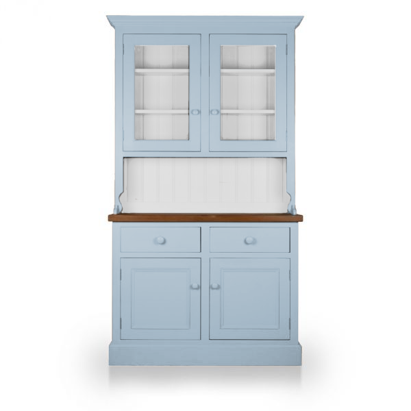 Welsh Double Dresser with glazed top - Brindley Blue
