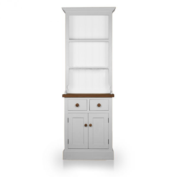 Welsh Double Dresser with open top - Soft White