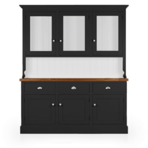 Welsh Triple Dresser with glazed top - Carbon Grey