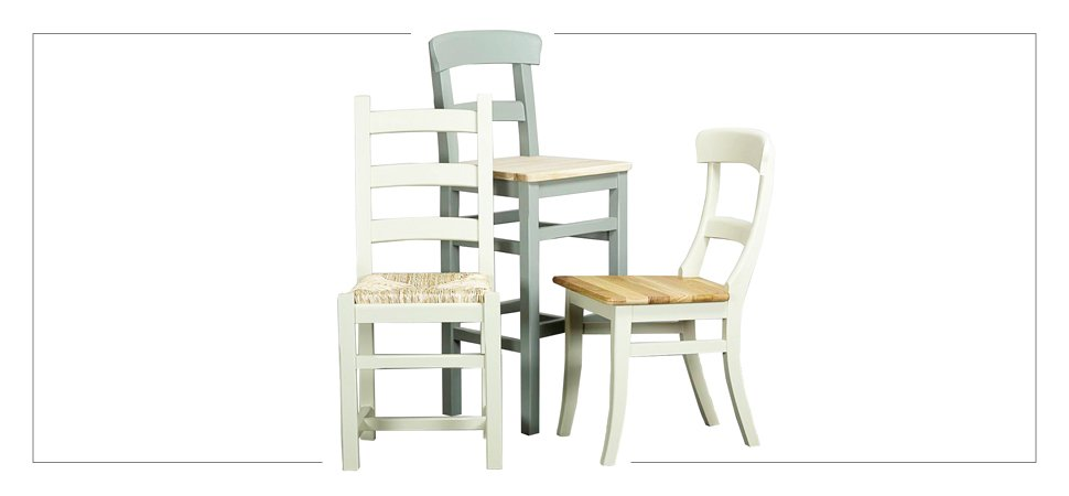 Shop painted timber dining chairs by Mudd & Co