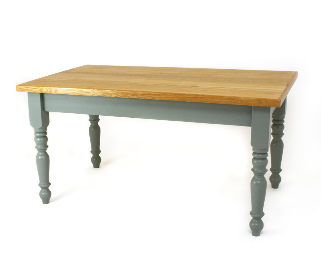 Oak Top 4 inch Farmhouse Table