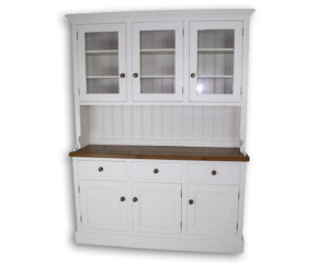 Glazed triple Welsh dresser