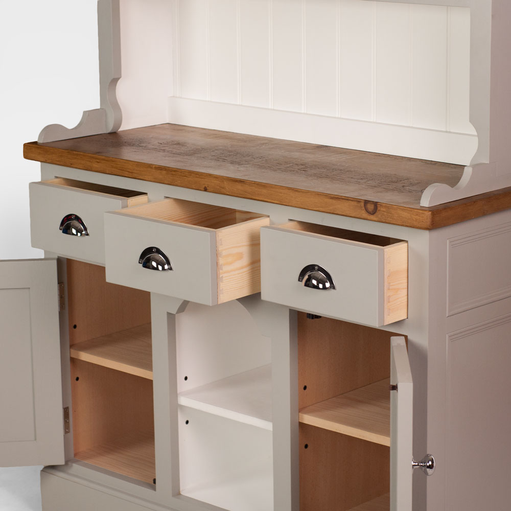 Dog Kennel Dresser with open top - chrome handles
