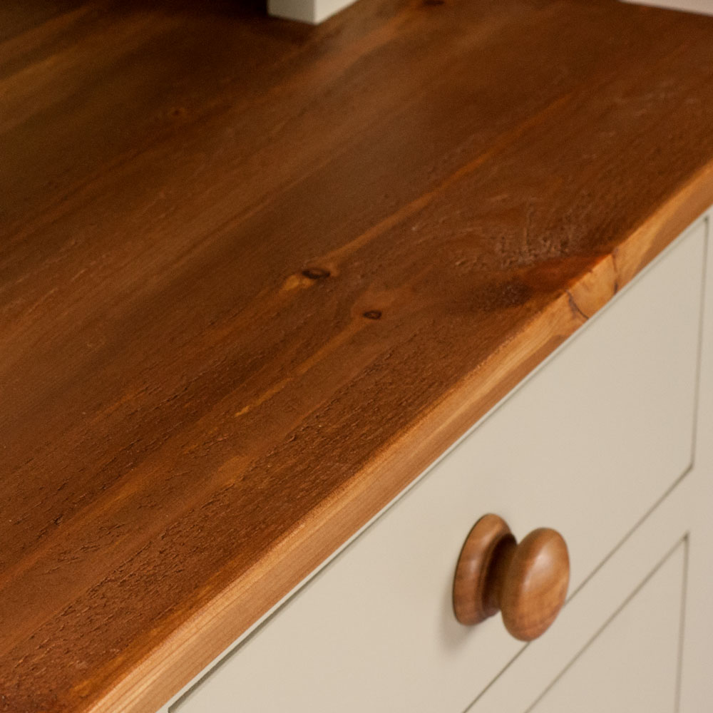 New England Dresser with waxed pine top and oak handle