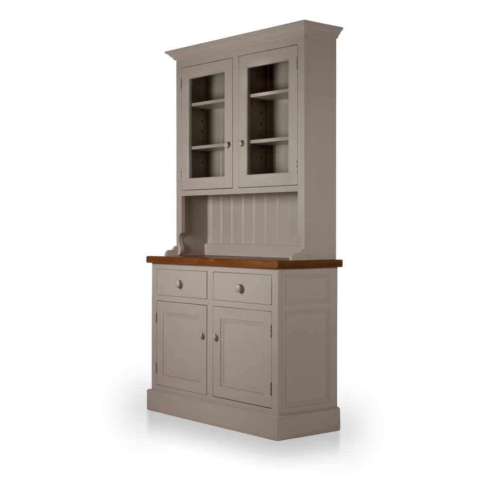 Welsh Double Dresser with glazed top