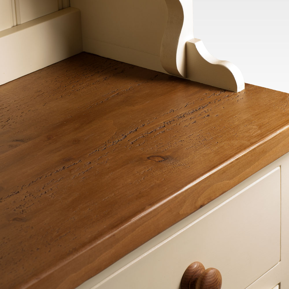 Welsh Triple Dresser with closed top - varnished pine top