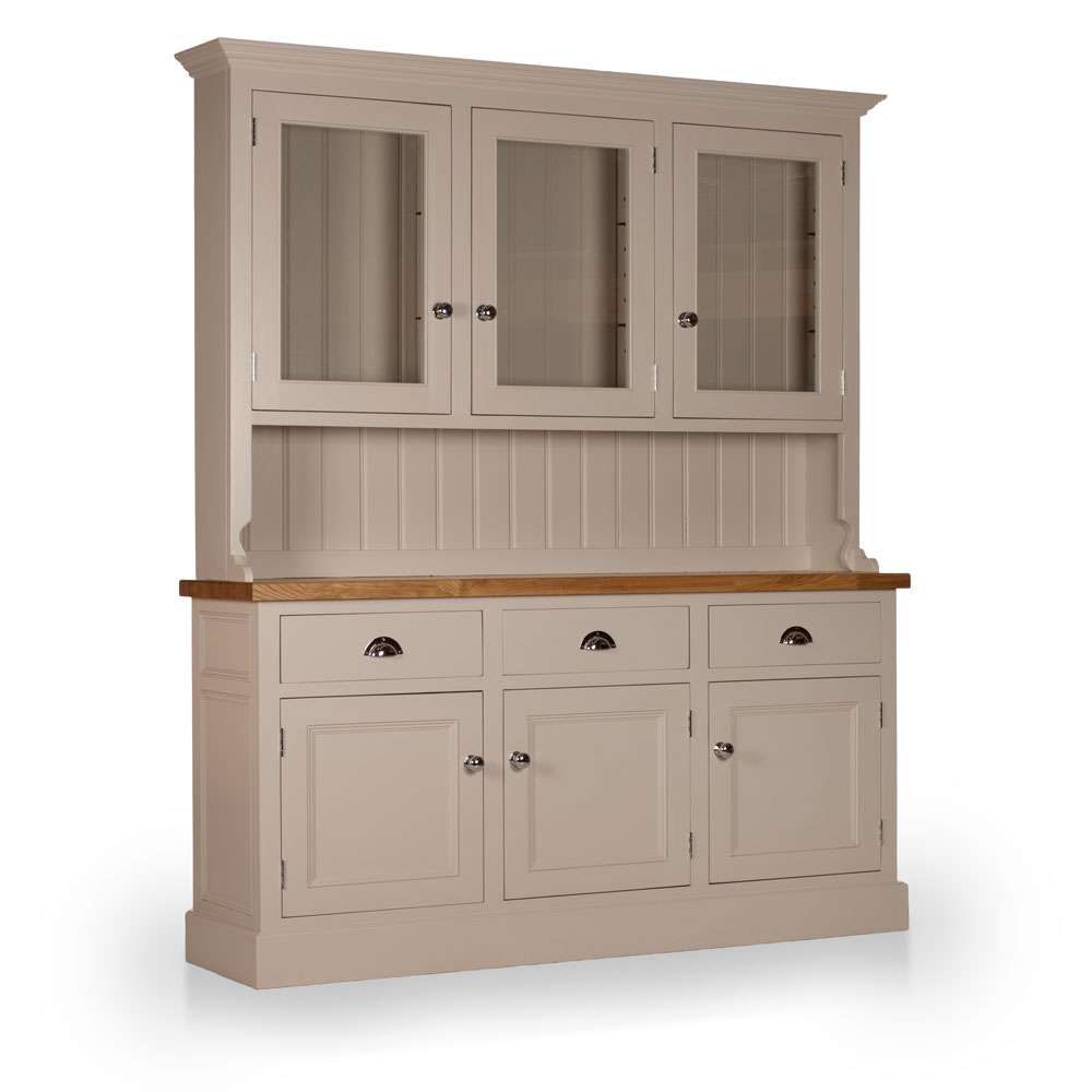 Welsh Triple Dresser with glazed top with Thorncliffe door inlays
