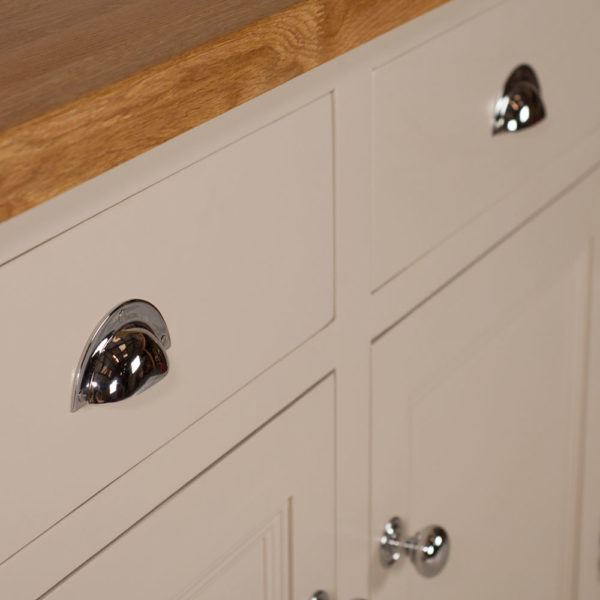 Welsh Triple Dresser with glazed top with chrome handles