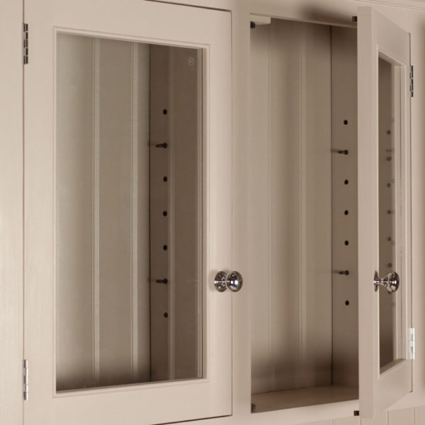 Welsh Triple Dresser with glazed top - chrome handles