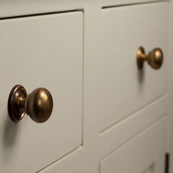 Welsh Triple Dresser with open top with brass handles in colour 7