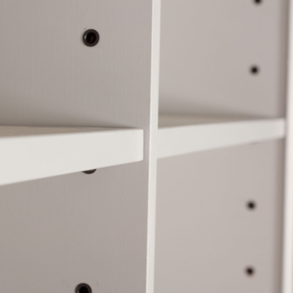 Alton Double Bookcase shelves