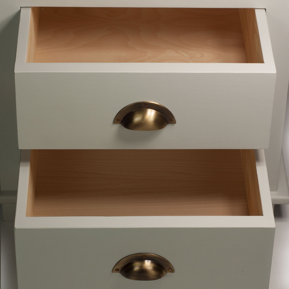 New England Shelf Unit drawers
