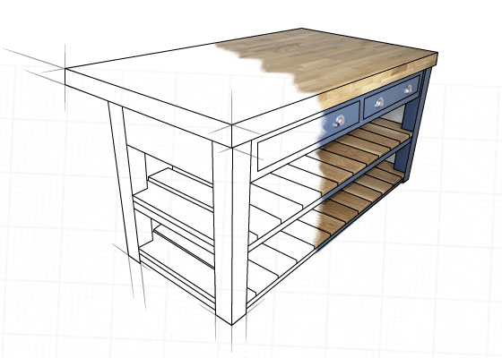 Bespoke Mudd & Co kitchen island order online