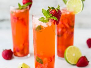 Summer Fruit Tea Fizz