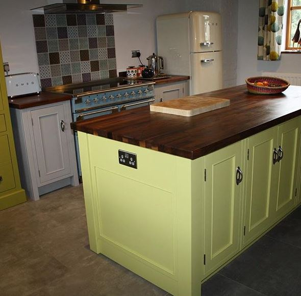 Bright Kitchen Island