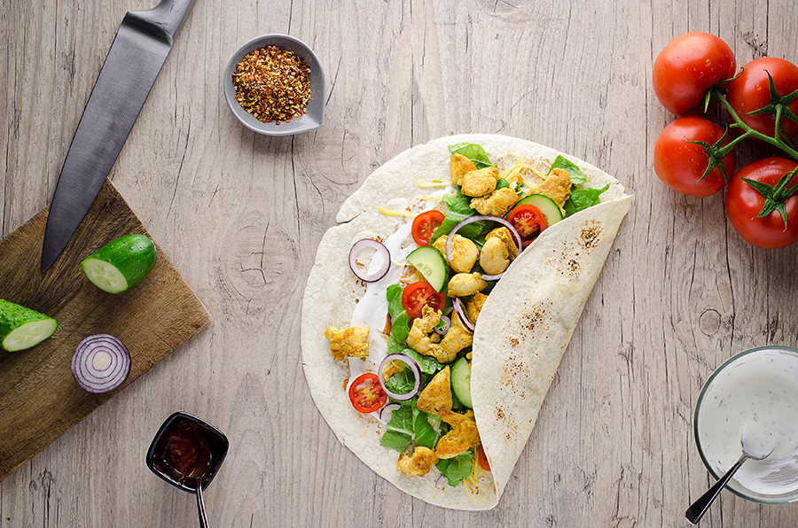 Back-to-school lunch box ideas: Chicken tortilla wrap