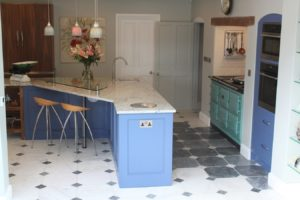 Seating on KItchen Island Old Rectory