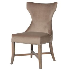 Croxden Biscuit Chair with Silver Studs