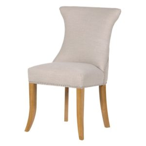 Tattonhill Ivory Studded Dining Chair