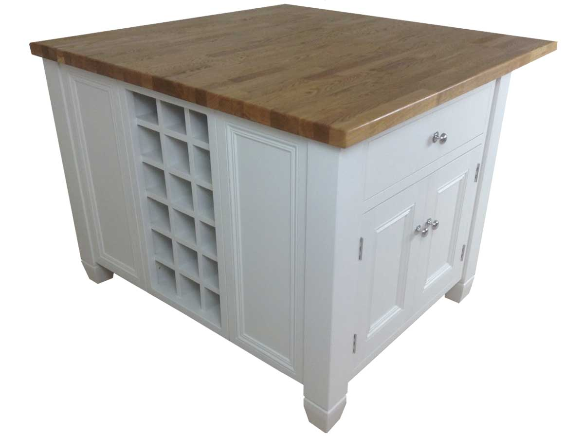 Freestanding Oak Top Kitchen Island
