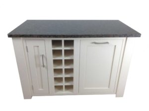 Freestanding Kitchen Island integrated bin