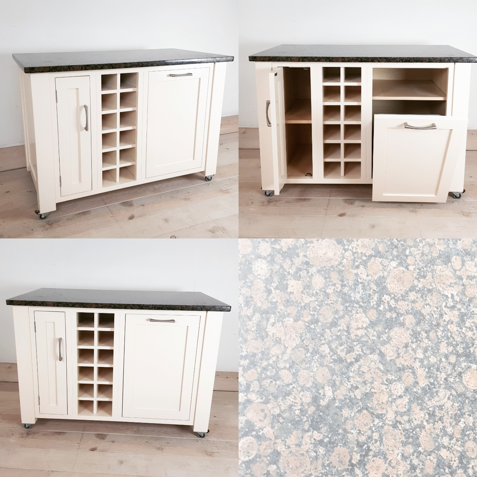 Quartz Top Kitchen Island With Integrated Bin By Mudd Co