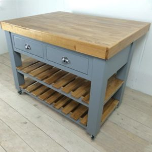 Double butchers block in purbeck stone