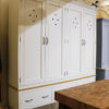 Wexford housekeeper's cupboard in the Mudd & Co factory sale 2019/2020. Handcrafted kitchen and home furniture