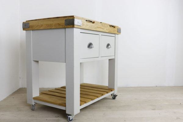 Double butchers block in the Mudd & Co factory sale 2019/2020. Handcrafted kitchen and home furniture