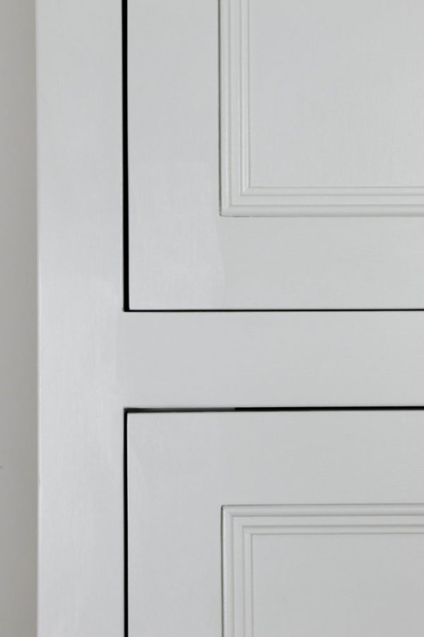 Chimney cupboard in the Mudd & Co factory sale 2019/2020. Handcrafted kitchen and home furniture