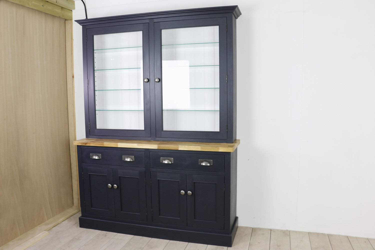 Glazed Welsh dresser in the Mudd & Co factory sale 2019/2020. Handcrafted kitchen and home furniture
