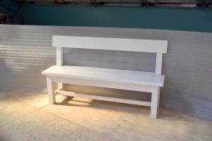 5ft Parsons Bench in the Mudd & Co factory sale 2020. Handcrafted kitchen and home furniture