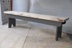 6ft English Bench in the Mudd & Co factory sale 2020. Handcrafted kitchen and home furniture