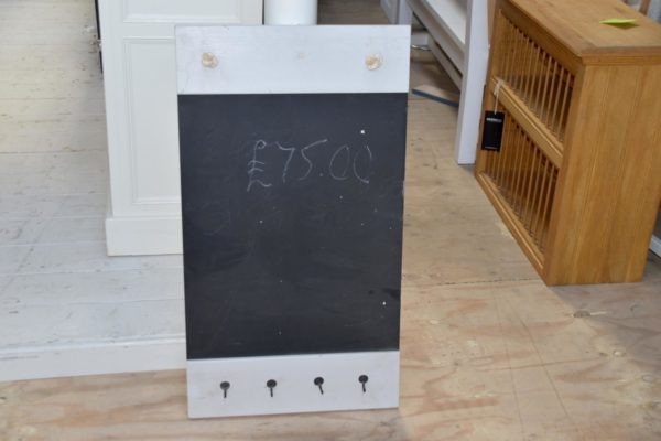 Blackboard in the Mudd & Co factory sale 2020. Handcrafted kitchen and home furniture