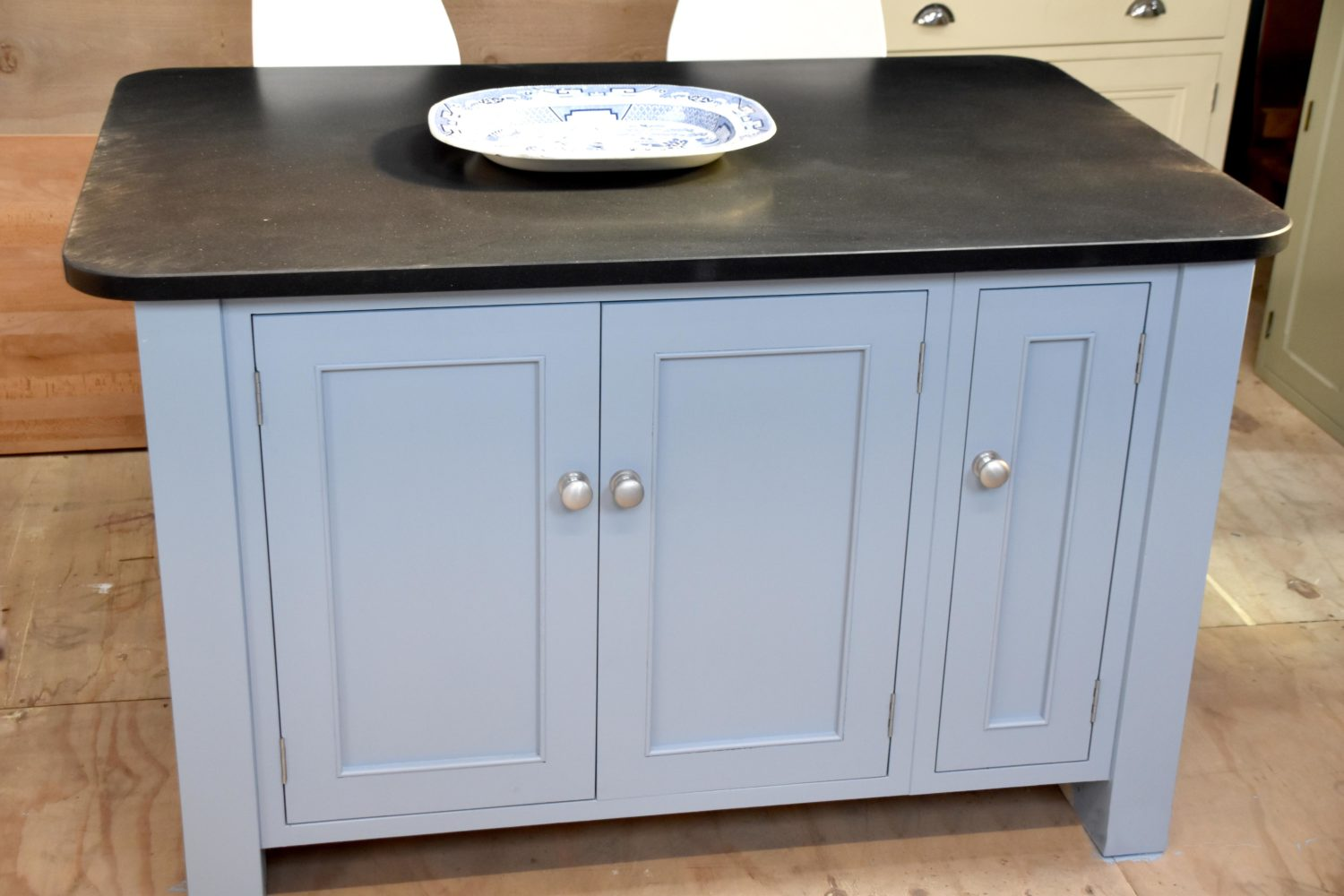 Granite Top Island in the Mudd & Co factory sale 2020. Handcrafted kitchen and home furniture
