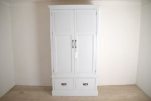 Louvre Door Cupboard in the Mudd & Co factory sale 2020. Handcrafted kitchen and home furniture
