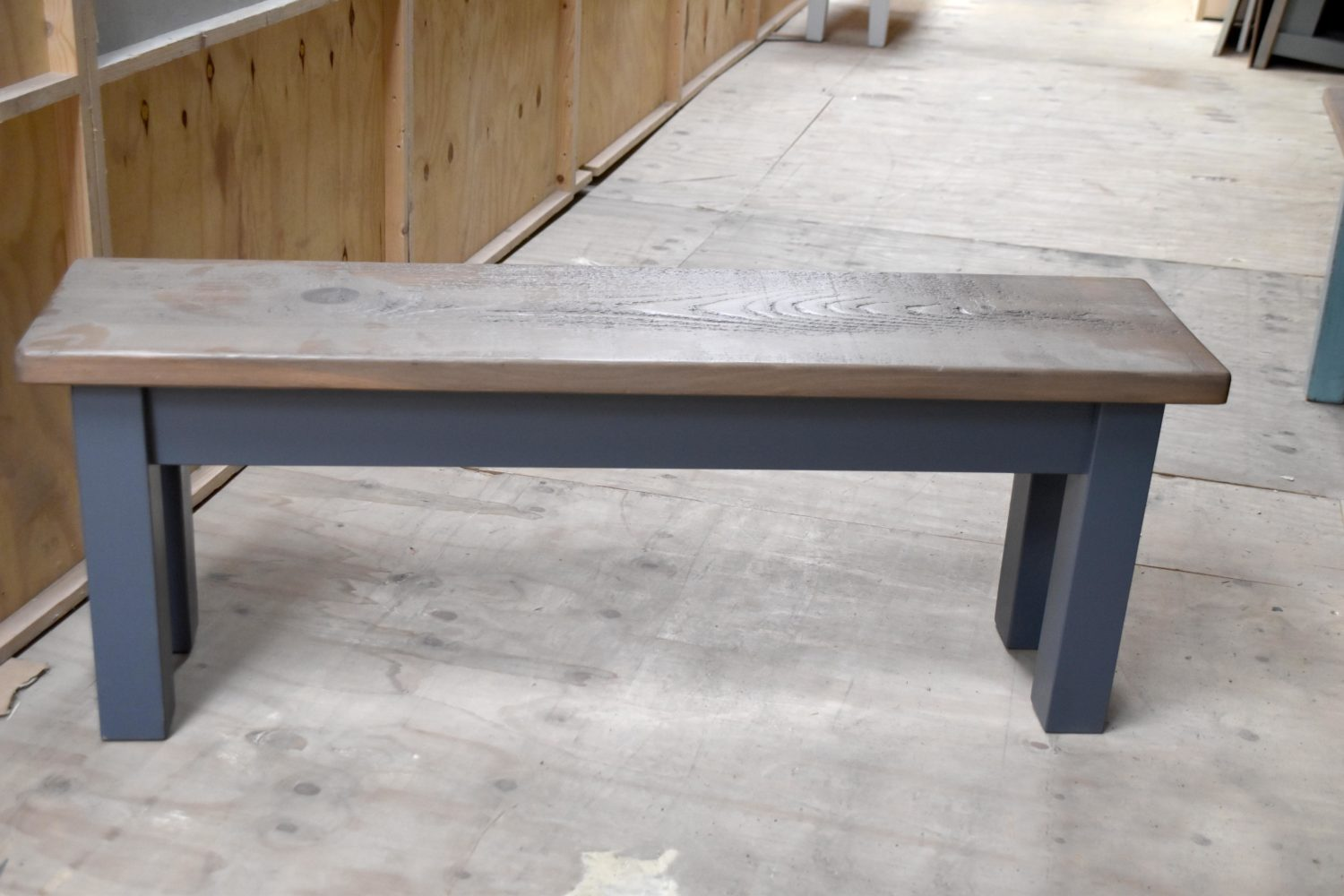 Square Leg Bench in the Mudd & Co factory sale 2020. Handcrafted kitchen and home furniture