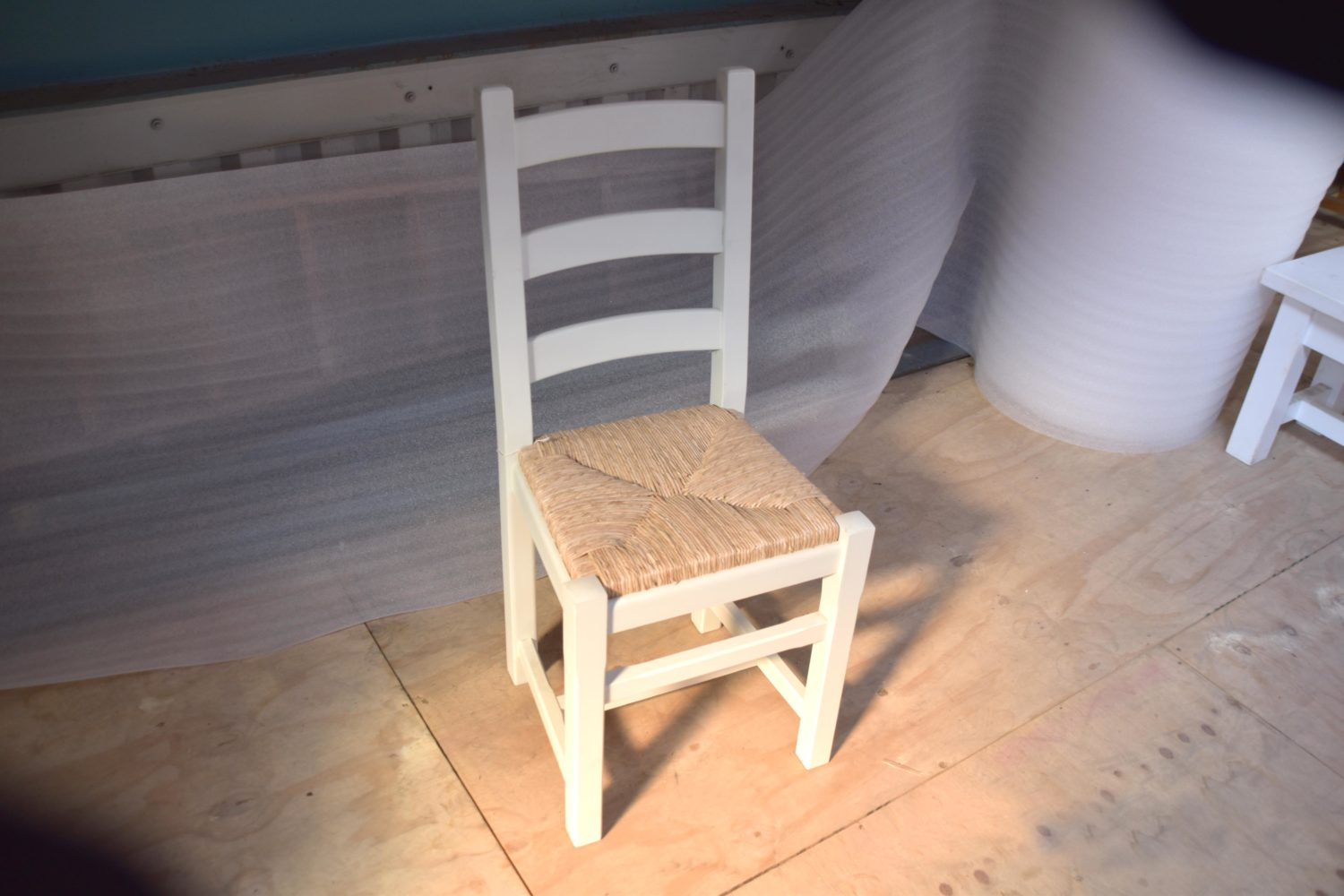 Staffordshire Ladder Back Chair in the Mudd & Co factory sale 2020. Handcrafted kitchen and home furniture