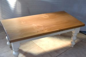 Turned Leg Coffee Table in the Mudd & Co factory sale 2020. Handcrafted kitchen and home furniture