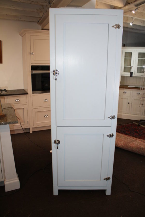 Retro style Chelsea Ice Box fridge and freezer in the Mudd & Co factory sale 2020. Handcrafted kitchen and home furniture