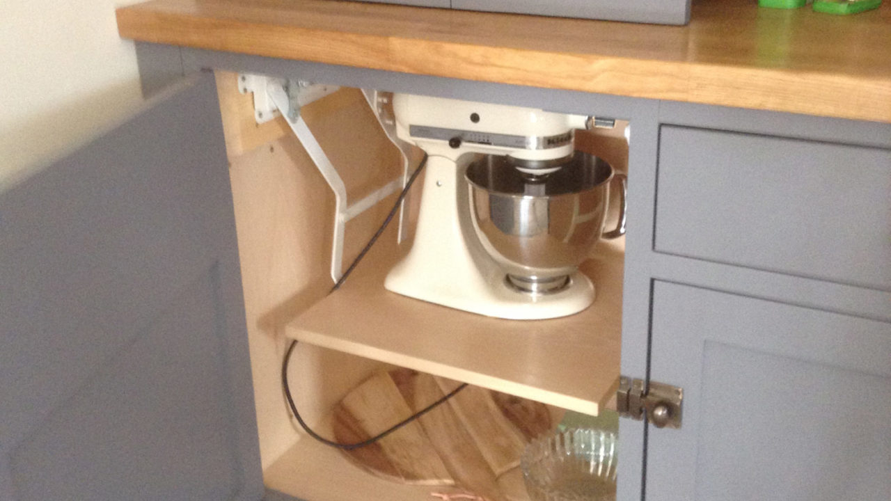 Moveable Shelf - 10 Ways to Save Space in Your Kitchen Design by Mudd & Co